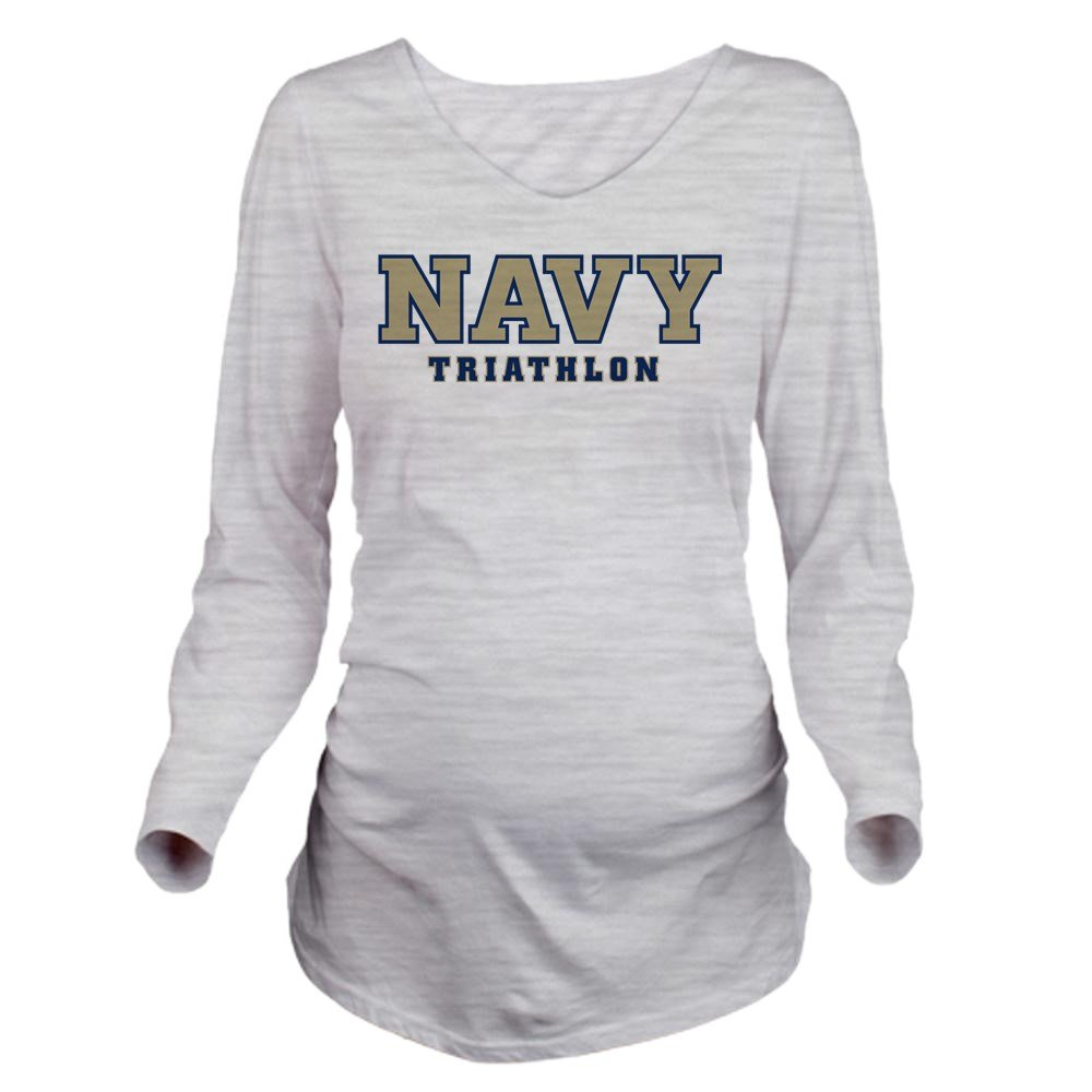 93a6d433 Amazon.com: CafePress US Naval Academy Tri Long Sleeve Maternity T-Shirt,  Cute and Funny Pregnancy Tee Ash Grey: Clothing