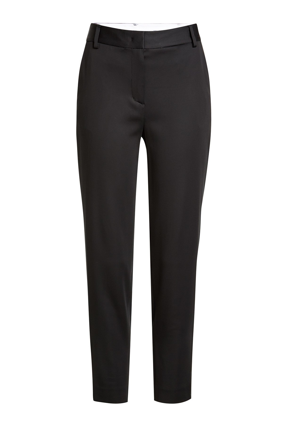 DKNY Women's Tailored Relaxed Crop Pants (10, Black) by DKNY
