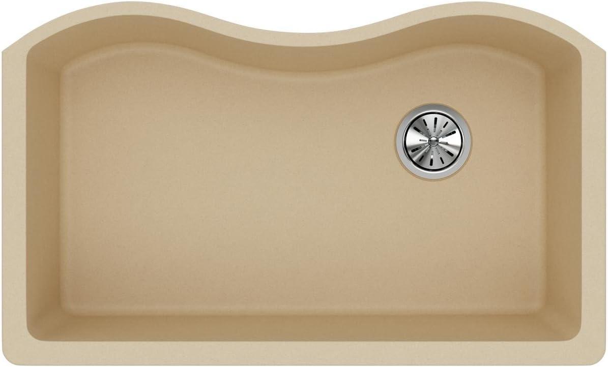 Elkay Quartz Classic ELGUS3322RSD0 Sand Single Bowl Undermount Sink