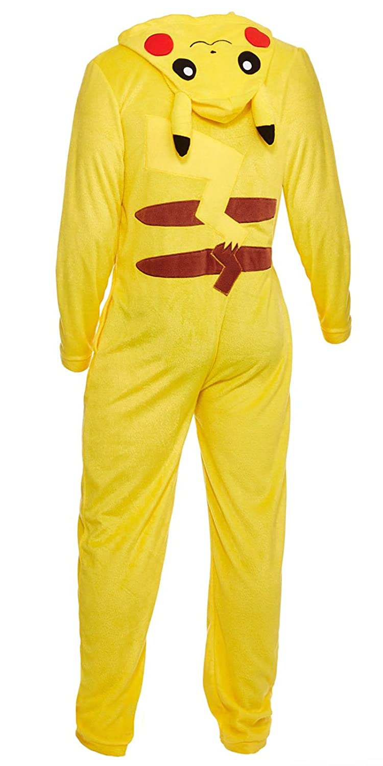 Amazon.com: Pokemon Pikachu Costume Zip-up One Piece Suit (Large): Clothing
