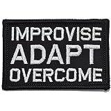 (US) Improvise Adapt Overcome - 2x3 Morale Patch - Black
