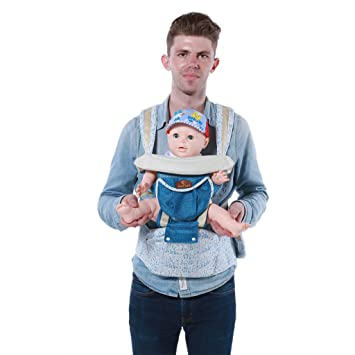 c554f2bcca4 Amazon.com   LaNova Baby Carrier Backpack and Sling Straps Front and Back  for Growing Toldders Kids Boys and Girls Perfect Child Carriers for Women  and Men