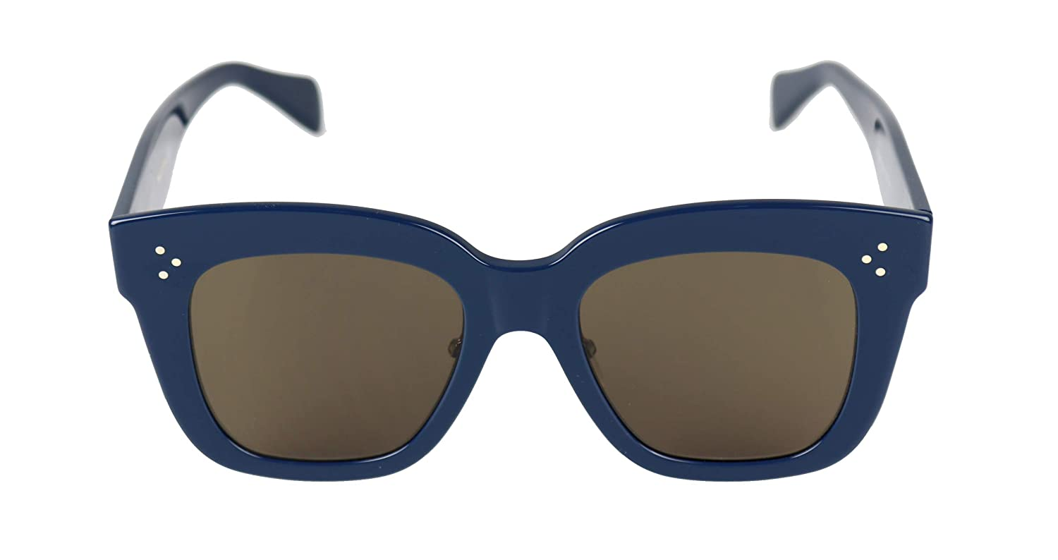 345e60d9cfaa6 Amazon.com  Celine Kim CL 41444 07G Blue Plastic Square Sunglasses Brown  Lens  Clothing