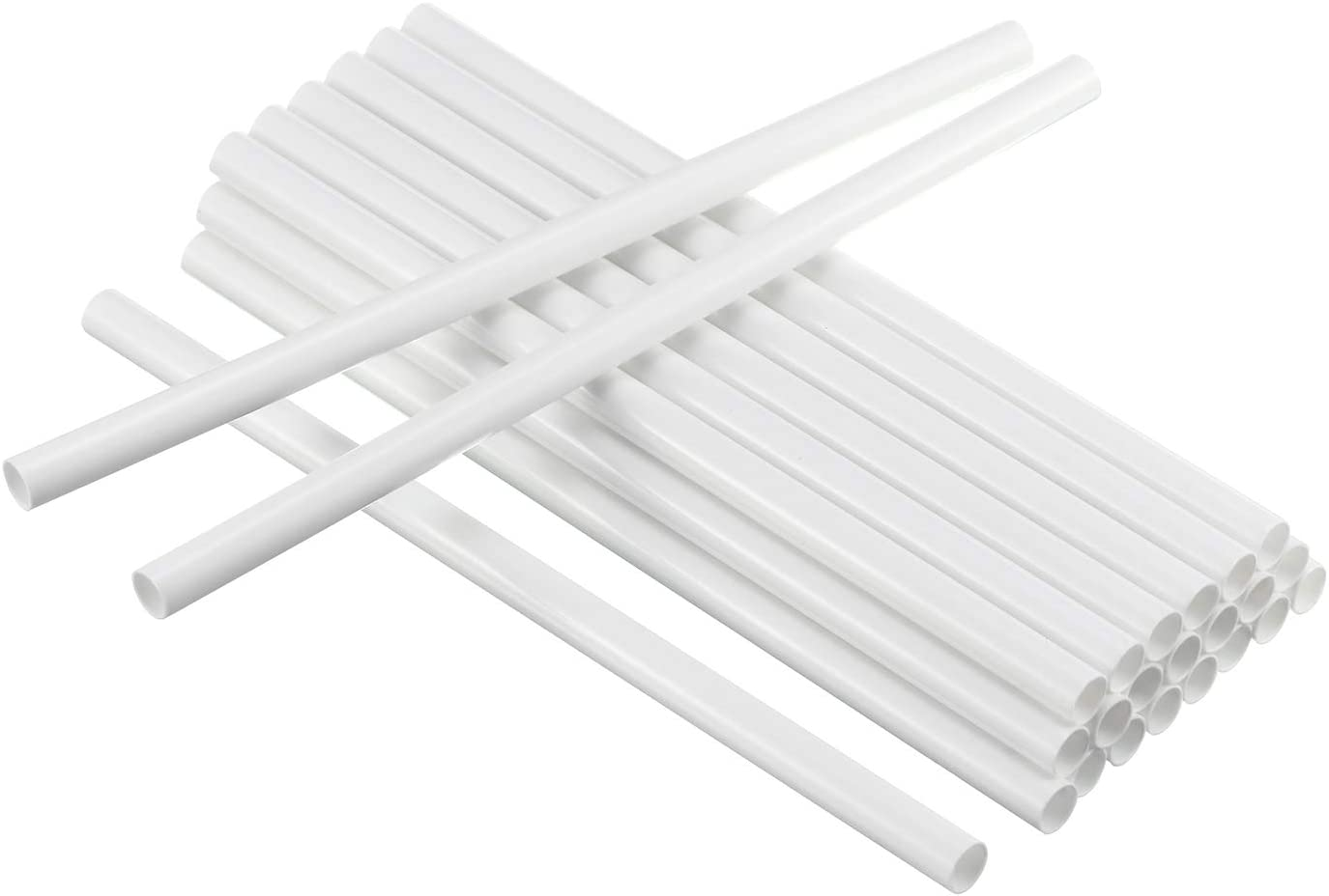 24 Pieces Plastic White Cake Dowel Rods for Tiered Cake Construction and Stacking (0.4 Inch Diameter 12 Inch Length)