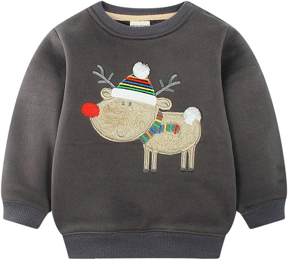 Juleya B/éb/é gar/çon Bande dessin/ée Sweatershirt Coton Mignon Chandail /à Manches Longues T-Shirt Polaire /épaissir Pull /à Capuche v/êtements dhiver
