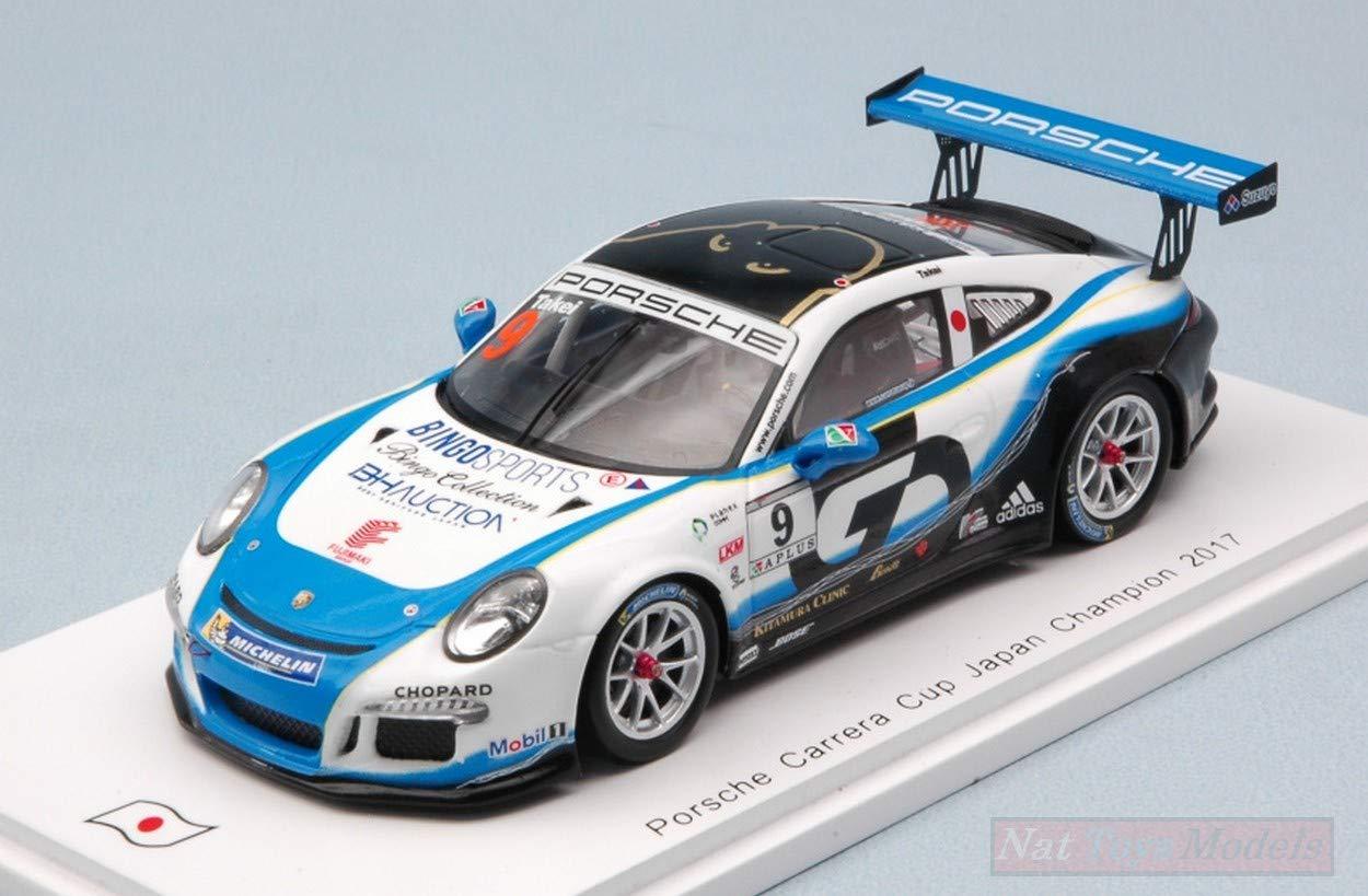 Spark Model SJ057 Porsche 911 GT3 Cup N.9 Japan Champion 2017 Shinji Takei 1 43
