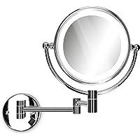 Navaris Espejo de Aumento para Pared de baño