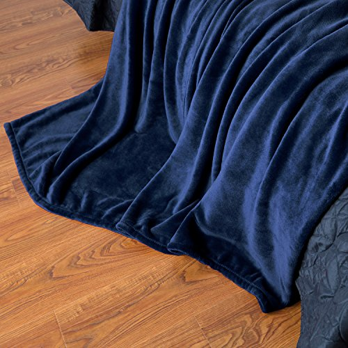Flannel Fleece Luxury Blanket Blue Throws