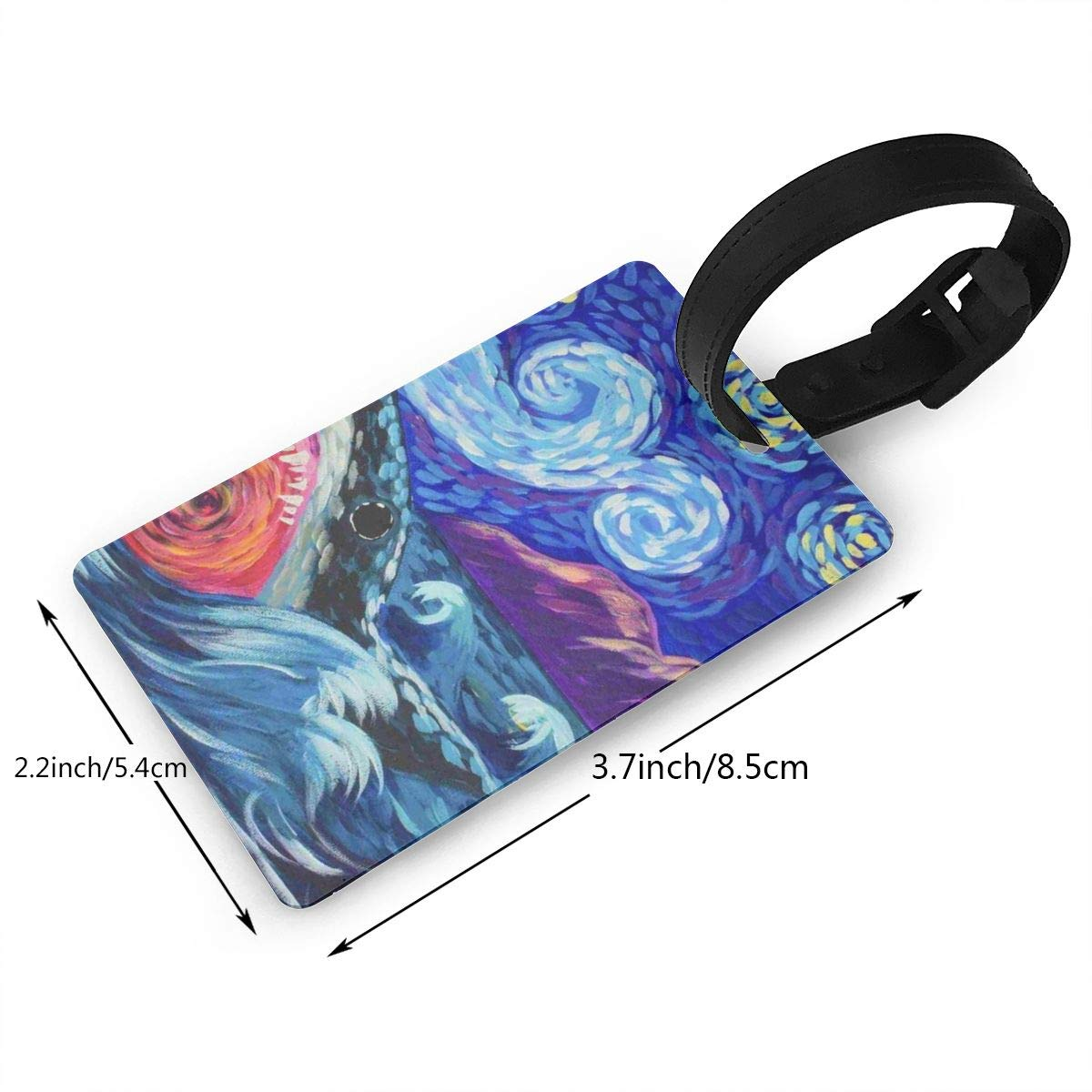 Shark Painting Luggage Tags Bag Travel Labels For Baggage Suitcase