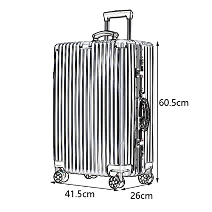 2 5 Colors Built-in Password Lock Comfortable Handle YD Luggage Set Trolley case Stylish Small Fresh and Bright Aluminum Frame Caster Student Large Capacity Suitcase ABS//PC