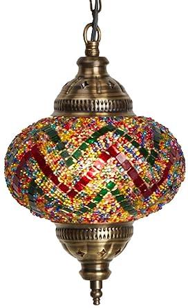new product 08780 93573 Turkish Moroccan Mosaic Glass Handmade Ceiling Pendant Fixture Hanging Lamp  Light,7