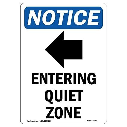 Osha Aviso - Señal de entrada en zona silenciosa [flecha ...
