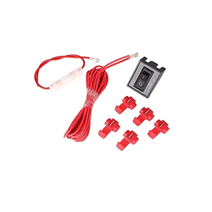 amazon com: universal switch wiring harness kit for cab roof top running marker  lights bulbs lamp: automotive