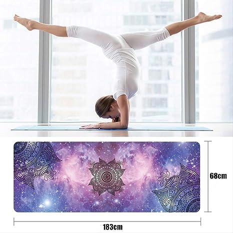 jkkl India Estera de yoga antideslizante Confort Pretty Sky ...