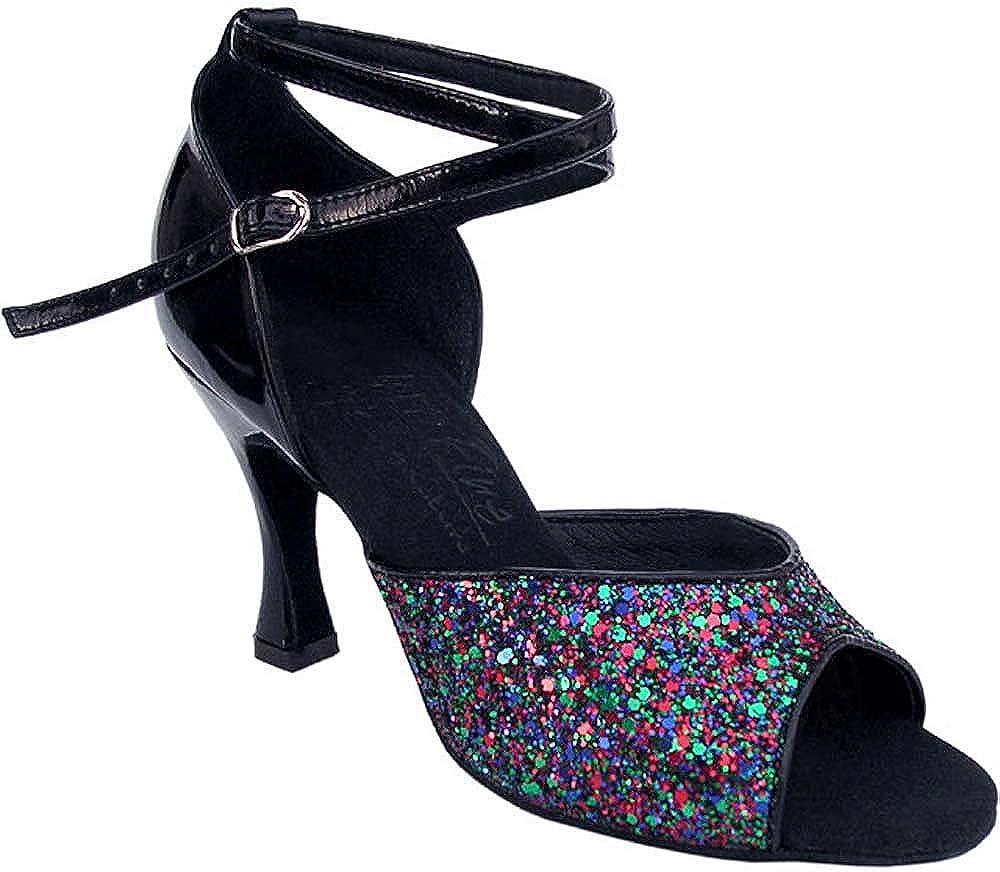 Bundle of 5 Womens Ballroom Dance Shoes Tango Wedding Salsa Shoes S9220EB Comfortable-Very Fine 2.5