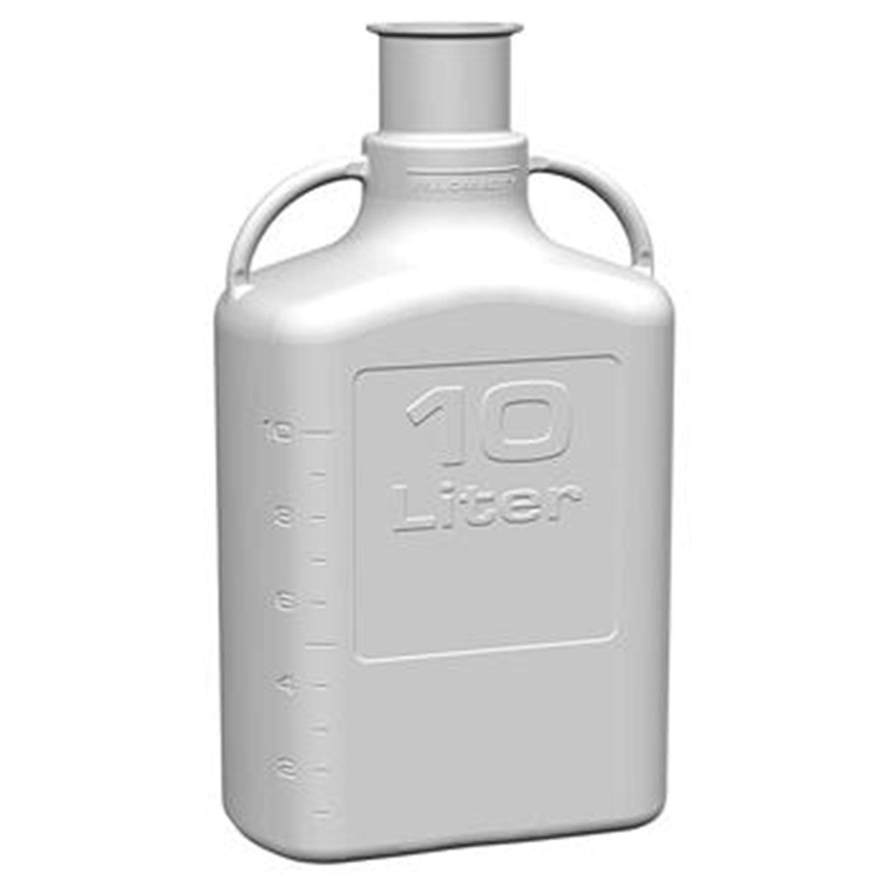 EZgrip 10L (2.5 Gal) Autoclavable Polypropylene (PP) Space Saving Carboy with Leakproof Spigot, 83mm (83B) VersaCap and 13L Max Capacity, Large Pinched Handles