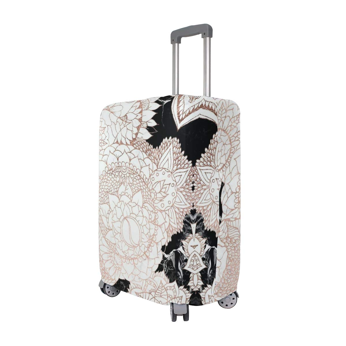 Rose Gold Floral Traveler Lightweight Rotating Luggage Cover Can Carry With You Can Expand Travel Bag Trolley Rolling Luggage Cover