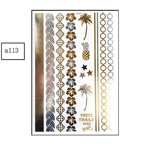 WATERMELON Paquete de 6 Tatuajes temporales al Aire Libre, Pulsera ...