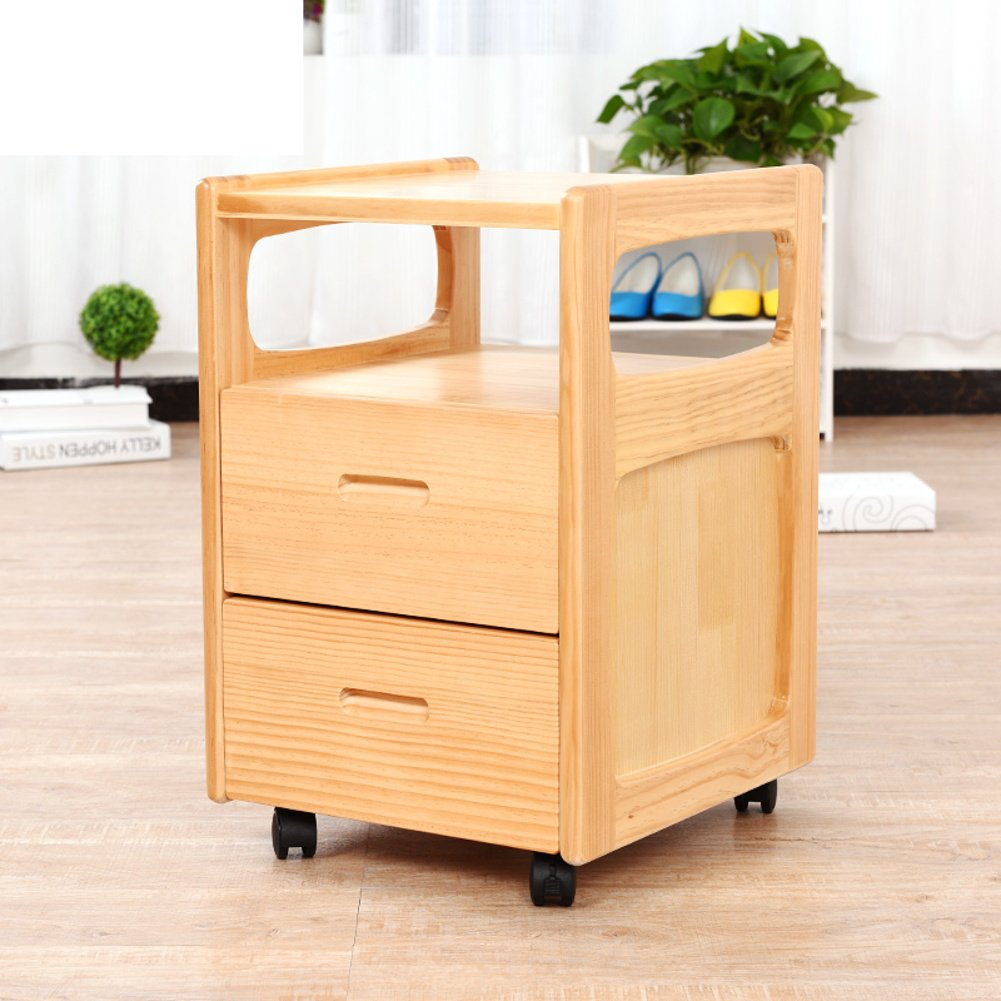 Solid wood environmental protection bedside table,Simple and modern cabinets [lockers] Sofa cabinet Children's mini bedside table-A