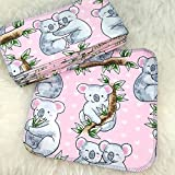 Koala 12 Pack ECO CLOTH WIPES//100% Cotton ~ Large 8x8'' ~ Double Layer/2 ply by Primm n Proper Baby