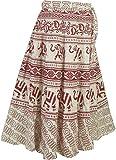 Cotton Wrap Skirt Designer Evening Dresses India Clothing,Red,Large