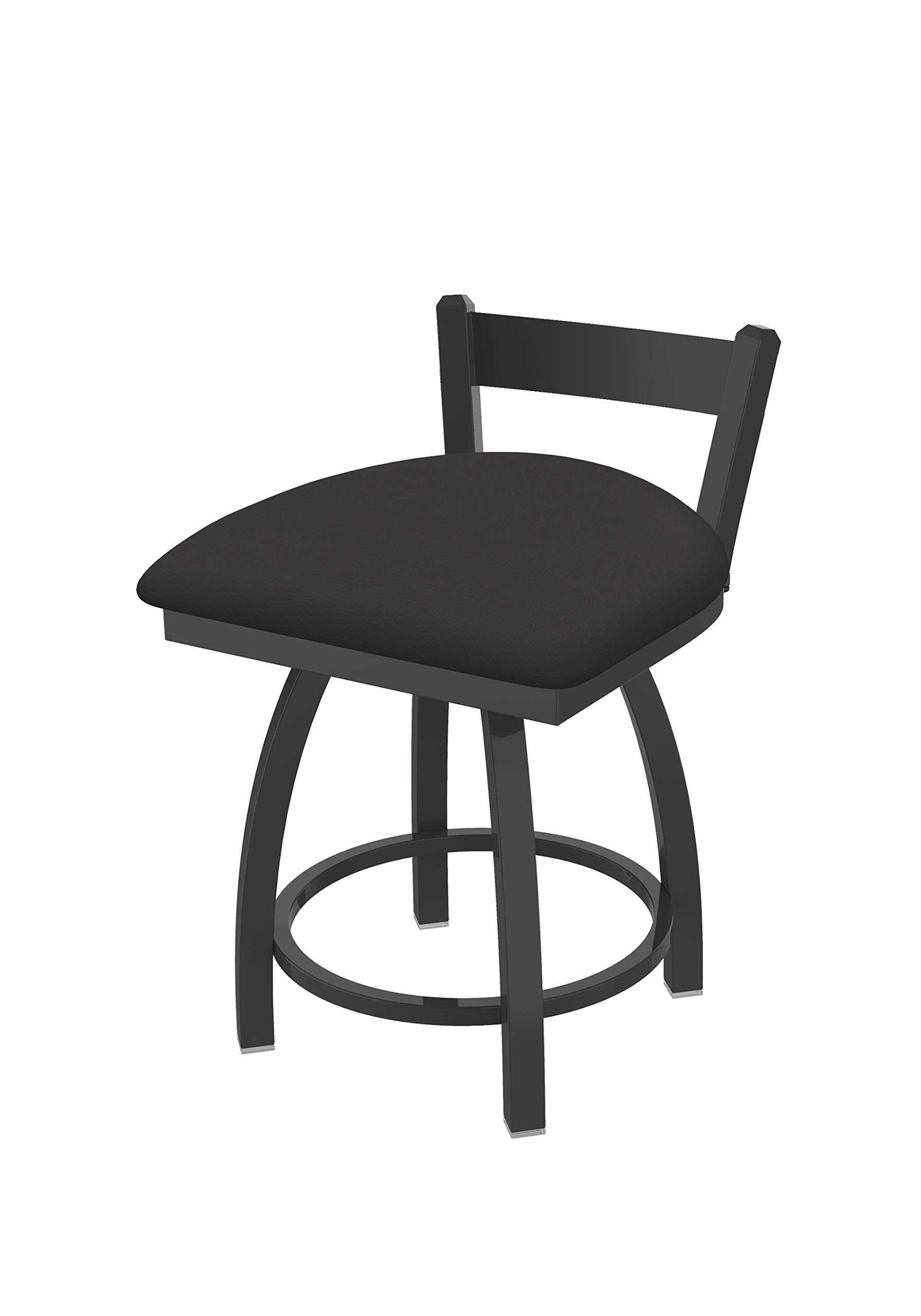 Holland Bar Stool Co. 82118PW008 821 Catalina 18'' Low Back Swivel Vanity Pewter Finish and Canter Iron Seat Bar Stool