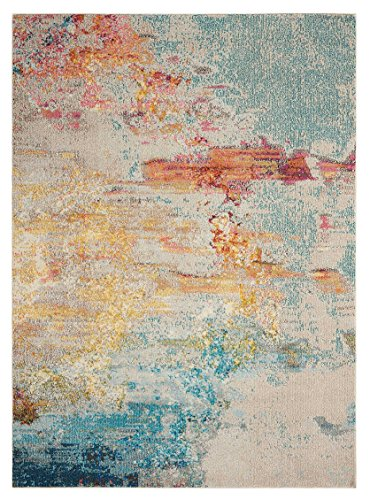 "Nourison Celestial Modern Abstract Area Rug, 7'10"" x 10'6"", Multicolor Grey (8'x10') - Polypropylene fibers ensure soft and plush touch This rug is stain resistant, fade resistant, no shedding, and easy to clean Style: Modern, Contemporary, Colorful - living-room-soft-furnishings, living-room, area-rugs - 61yOGLM5B0L -"