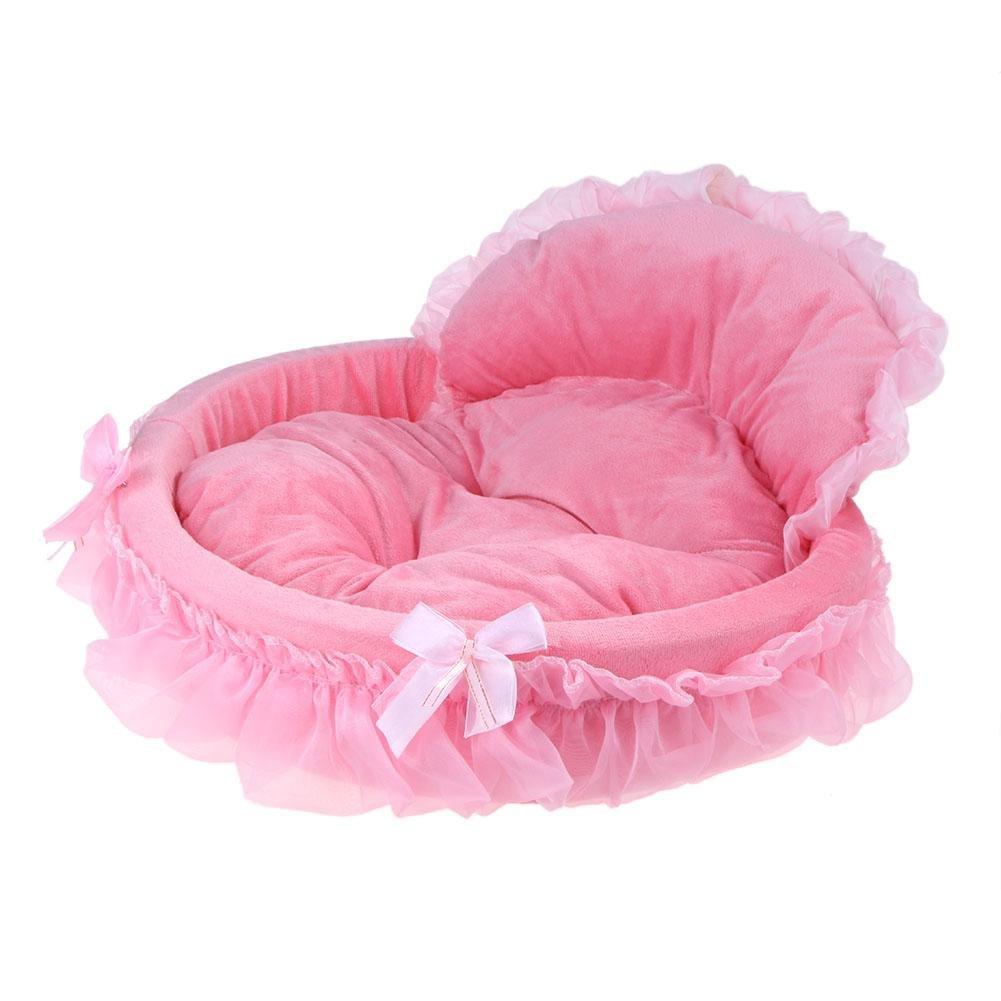 vanpower Sofá ovalado para mascotas, camas de encaje, estampado de princesa, cachorros, casa suave, nido, gato, perro: Amazon.es: Productos para mascotas