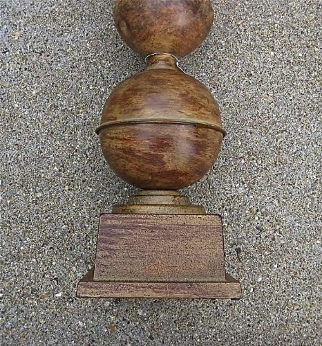 Architectural 23'' High Cone-spherical Finial - Tin and Cast Iron by Sphere (Image #2)