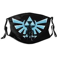 Zelda Blauw Triforce Anti Stof Gezichtsversieringen Gezichtsdecoratie Stofdichte Oorlus Cover Gezicht Decoratie voor…