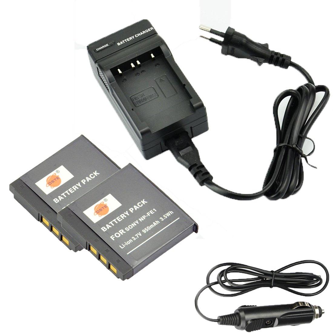 DSTE 2-Pieza Repuesto Baterí a y DC02E Viaje Cargador kit para Sony NP-FE1 Cyber-shot DSC-T7 DSC-T7/b DSC-T7/S DSC-P2 DSC-P3 DSC-P5 DSC-P9 DSC-P7 DSC-P10 DST Electron Technological Co. Ltd GJLF26B2G