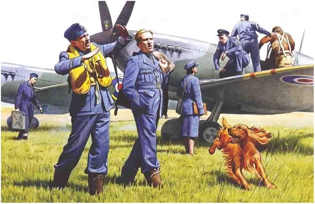 3 Figures 1939-1945 New Molds 1:32 Plastic Kit WWII British Ground Personnel