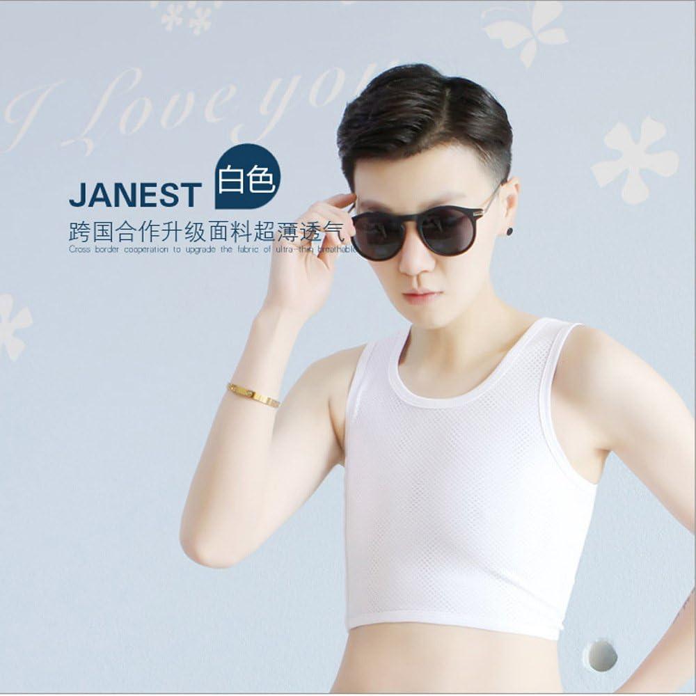 BaronHong Tomboy Trans Lesbian Mesh Chest Binder Plus Size Short Tank Top