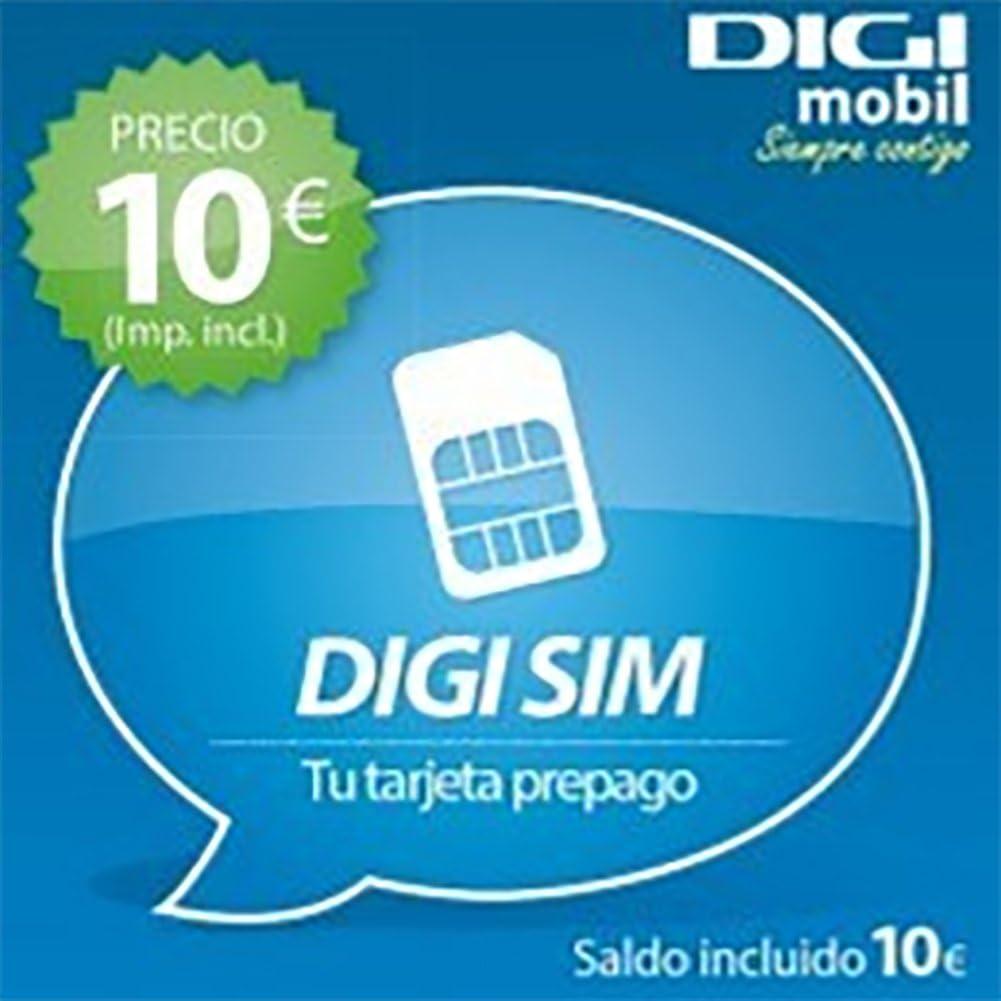Tarjeta SIM Digi mobil Prepago con 10€: Amazon.es: Electrónica