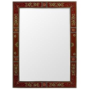 Amazon.com: China Furniture Online Tibetan Wall Mirror, Hand Painted ...