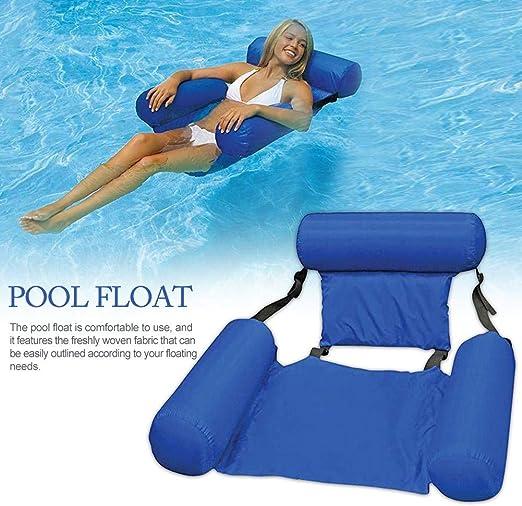 Genialkiki - Hamaca hinchable con cabeza y plataforma flotante para piscina, muy ligera para adultos y niños: Amazon.es: Hogar