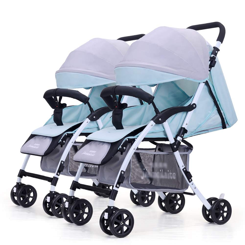 Guo@ Cochecito de bebé gemelo, carro infantil doble carro de ...