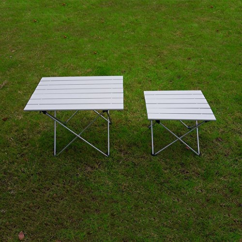 ... ASDOMO Portable Camping Tables With Aluminum Table Top, Hard Topped Folding  Table In A ...