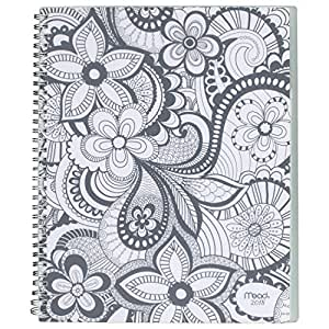 """Mead Weekly / Monthly Planner, January 2018 - December 2018, 8-1/2"""" x 11"""", Zendoodle, Design Will Vary (CRW51710)"""