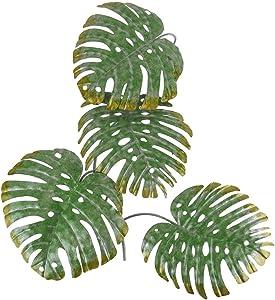 Chesapeake Bay Ltd 17 Inch Green Metal Palm Leaf Sculpture Wall Hanging Art Tropical Tree Decor