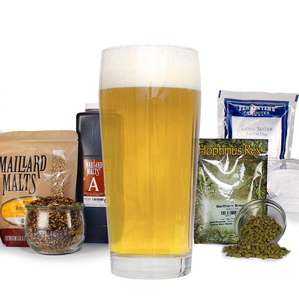 German Kolsch Light Ale Homebrewing Beer Making Recipe Kit - Homemade 5 Gallon Malt Extract Ingredients