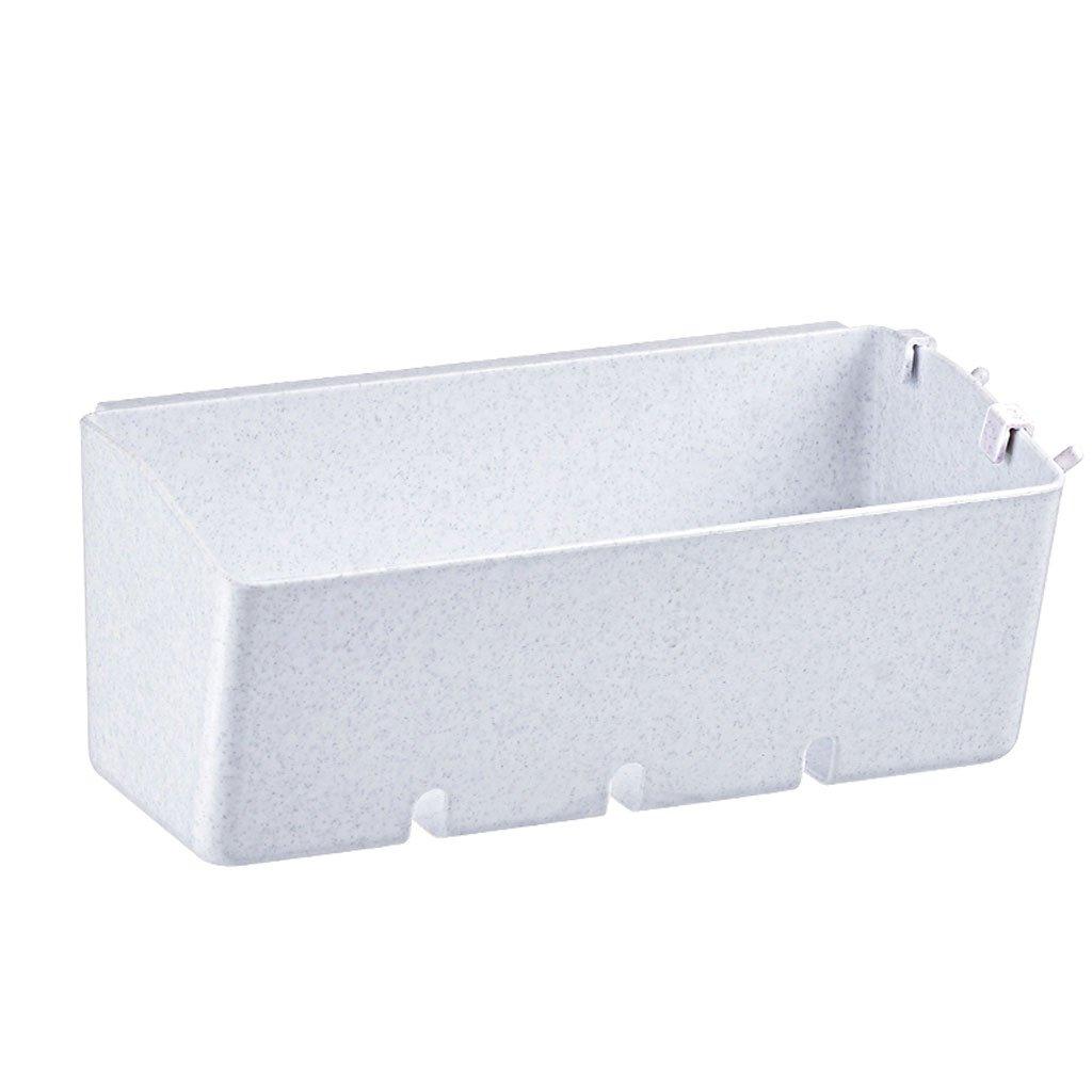 HY Punch-free Shelf Bathroom Bathroom Storage Rack Suction Wall Kitchen Storage Rack Storage Box (Color : White)