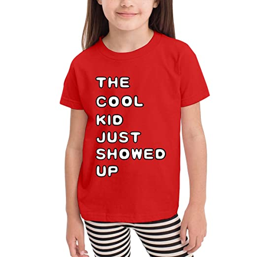 ffef27453 The Cool Kid Just Showed Up. Cotton Girls Boys T Shirt Kids Unique Blouse  Red