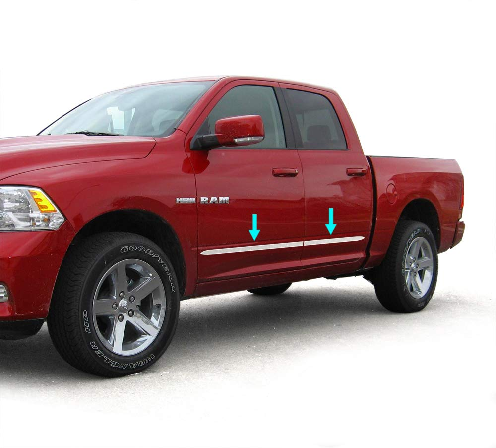 Tyger Auto Made in USA Works with 2009-2018 Dodge Ram Quad Cab 1.5 Wide 4PC Body Side Molding Trim