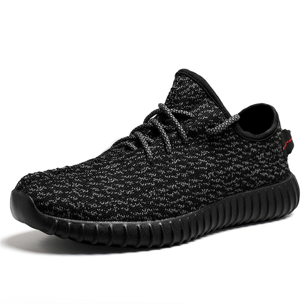 Men's Running Shoes Lightweight Women's Fashion Mesh Sneakers Breathable Casual Athletic (Women 9.5 B(M) US=Men 8.5 D(M) US/42EU, Black)