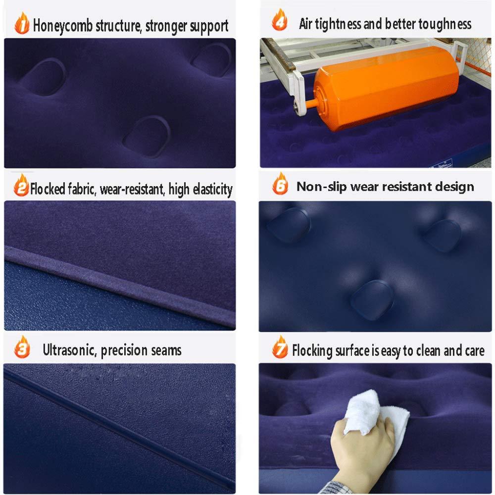 XULO Quick Inflation Indoor Luftmatratze Single Beflockte Beflockte Beflockte Luftmatratze (Handpumpe Fußpumpe Elektrische Pumpe Dual-Use-Luftpumpe) -185  76  22CM,Blau.Electricpump B07Q3R6WK1 Luftmatratzen Moderne Technologie 118a0e