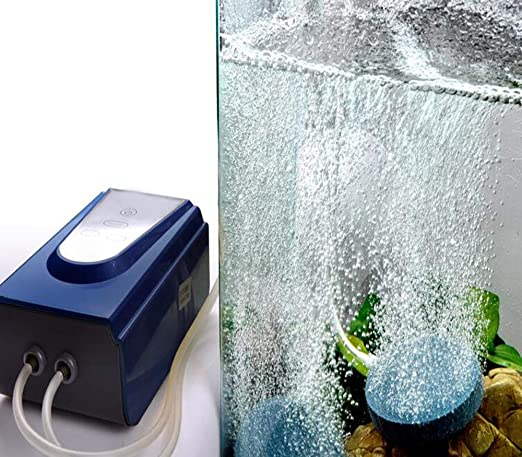 GOYOO Bomba de oxígeno para acuarios Maquina de oxigenacion Batería de Litio Piscicultura y DC Bomba de aireación: Amazon.es: Hogar