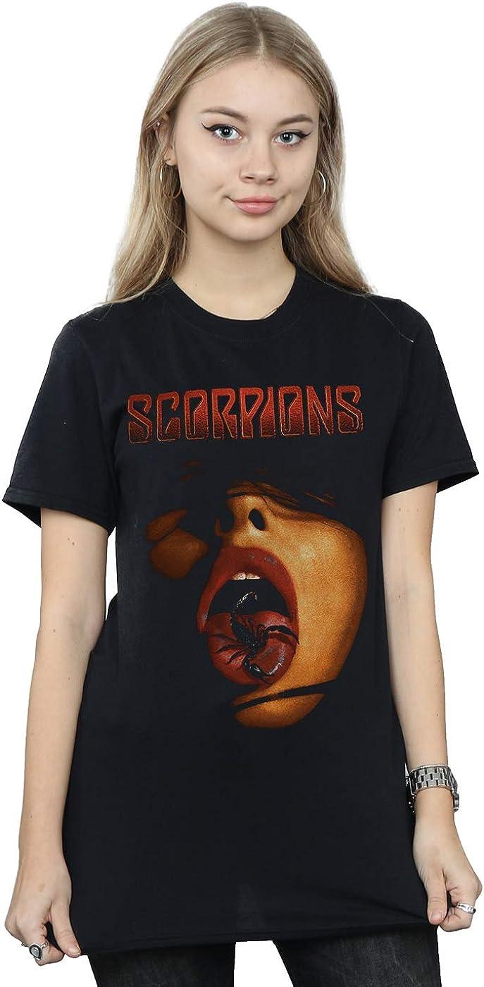Absolute Cult Scorpions Mujer Scorpion Tongue Camiseta del Novio Fit