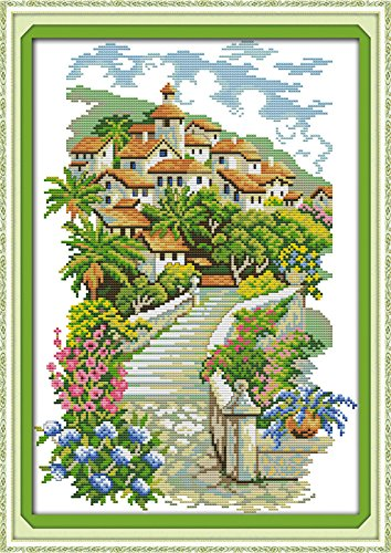 Happy Forever Cross Stitch Scenery, European-style castles