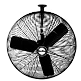 Air King 9724 24-Inch 1/4-Horsepower Industrial Grade Ceiling Mount Fan with 5,130-CFM, Black Finish